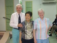 Rev Geoffrey & Mrs Amy Senior, with Rev Tiong Chiw Ing