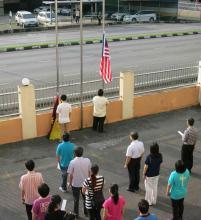 20160915_Flag Raising Ceremony_升国旗和州旗仪式_2